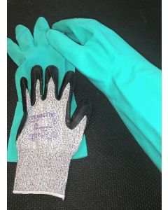 MAC Puncture and Cut Resistant Gloves (Level 4) and Waterproof Gloves COMBO