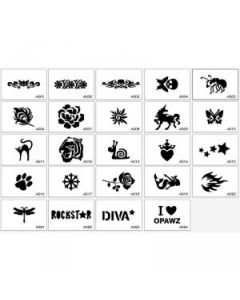 Opawz Stencil Set - 24 Unique Designs