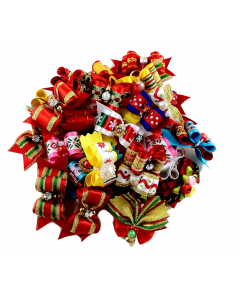 Fancy Bows (Christmas) - 50 pack