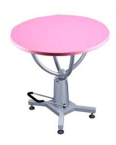 Shernbao Round Hydraulic Grooming Table - With Free Non Slip Mat