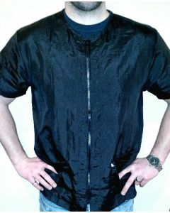 Cozmo Loose Fit unisex Grooming Jacket - No embroidery (Black)