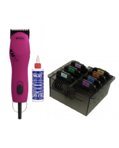 Wahl Clippers - KM10 Special with Comb Set & Oil - Raspberry