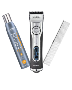 """ARTERO SPEKTRA PROFESSIONAL GROOMING CLIPPER (M629) - With free Oil fresh and 5.9"""" Comb"""